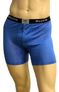 Mansilk Knit Boxer Brief M205 Royal Blue Small