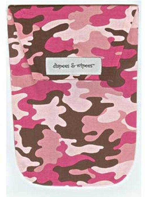 Diapees & Wipees Mod Maze Pink Baby Diapering Bag