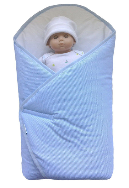 BundleBee Baby Wrap/Swaddle/Blanket, Feather Light/Blue, 0-4 Months