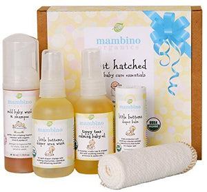 Mambino Organics: Just Hatched Baby Arrival Kit, 5 piece baby care essentials