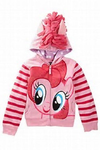 FREEZE My Little Pony Pinkie Pie Girls Hoodie Pink Small 6X-7