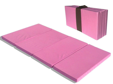 MamaDoo Kids Foldable Play Yard Mattress or Sleep Mat Pink