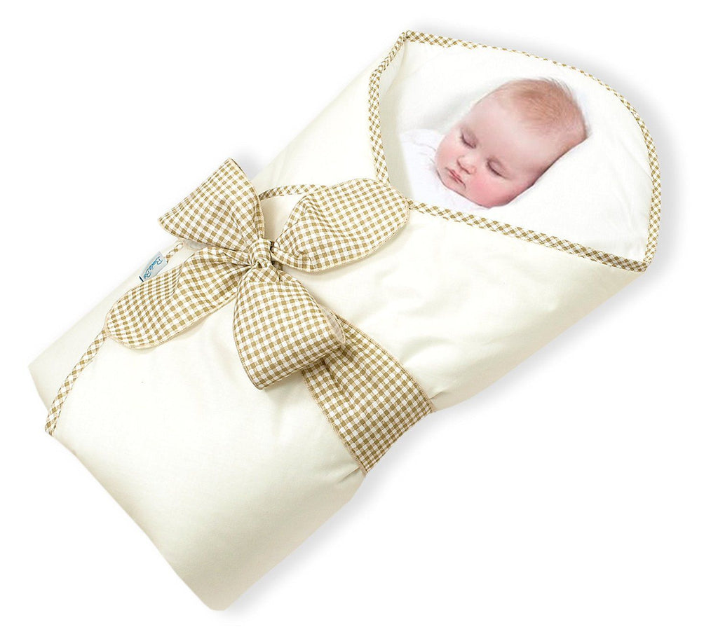 BundleBee Baby Wrap/Swaddle/Blanket, Feather Cream, 0-4 Months