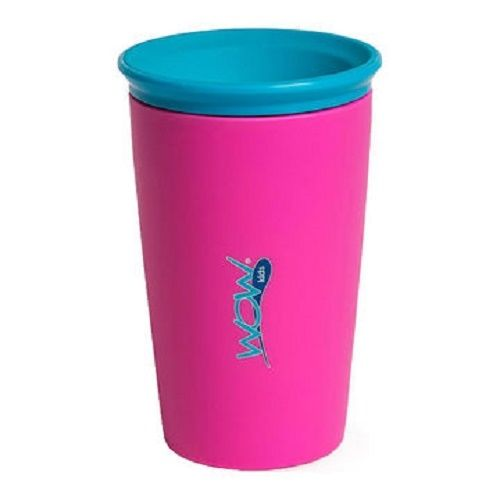 Wow Cup for Kids 360 Spill Free Drinking Cup BPA Free As Seen On TV Pink 9oz..