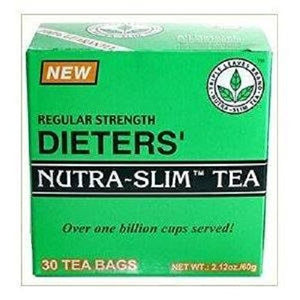 Regular Strength Dieters' Nutra-Slim Tea Triple Leaves Brand - 30 Tea Bags