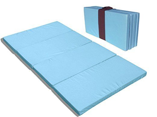 MamaDoo Kids Foldable Play Yard Mattress or Sleep Mat Blue