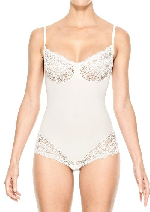 SPANX Lust Have Slimming Teddy 2441 Elegant Pearl Small