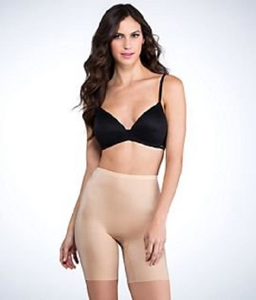 SPANX Hide & Sleek Mid Thigh Shaper 2508 Natural Small