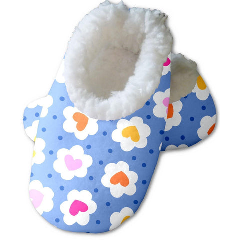 Snoozies Baby's Fleece Lined Footies, Daisy Hearts Large, 6-12m