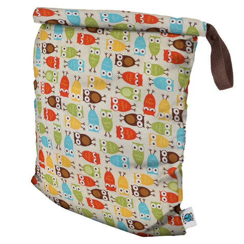 Planet Wise RollDown Hanging Wet/Dry Diaper Bag, Owl, Large