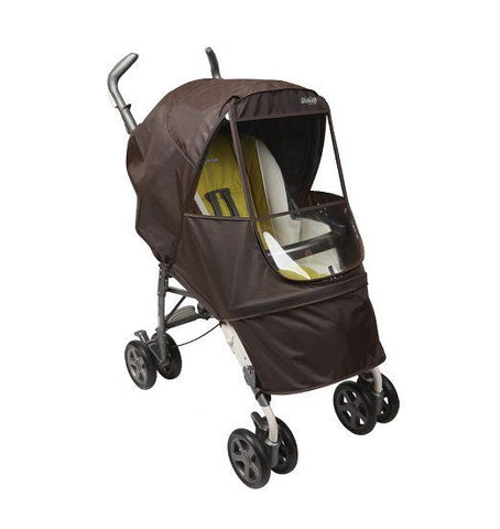 Manito Elegance Alpha EGCVA-49000 Stroller Weather Shield Chocolate