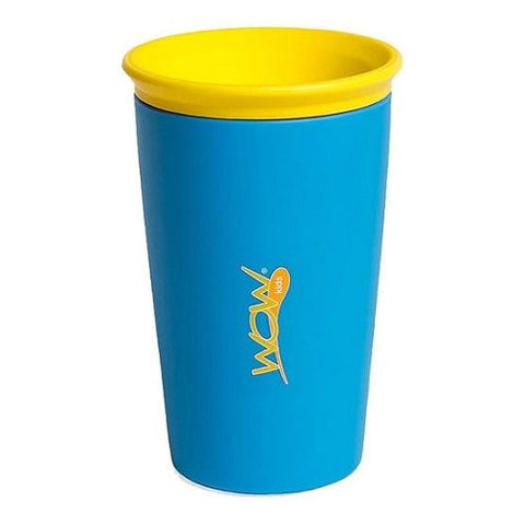 Wow Cup for Kids 360 Spill Free Drinking Cup BPA As Seen on TV Fre Blue 9 Ounce