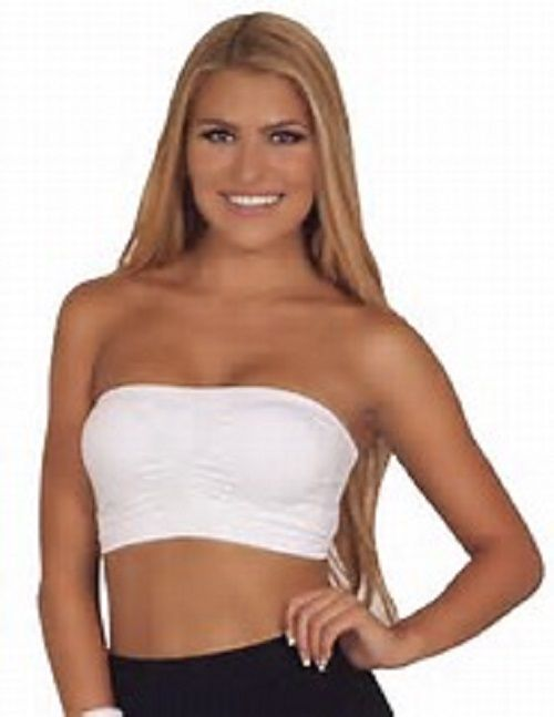 MB Trend Seamless Tube Bandeau Top SS1102 White One Size
