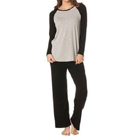 Majamas Womens' The Eclipse Pajama Set Heather E15L801 Gray/Black Large