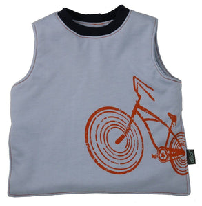 Wee Drool Bib - Waterproof Reversible T Bib - Wee Ride Orange