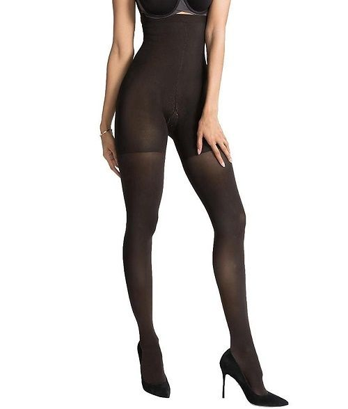 SPANX Luxe Leg High Waist Tights B Charcoal