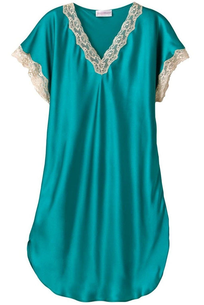 Velrose Charmeuse Sleep Gown 4503 Perfect for Summer Nights Green 1X