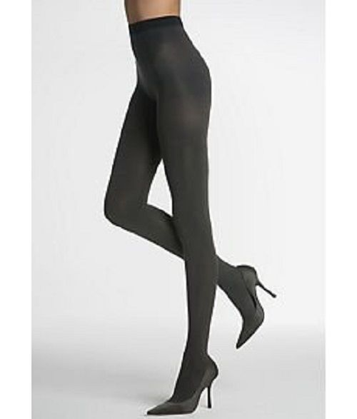 Tight-End Tights Shaping Reversible Opaque 005B Black/Charocal  Size B