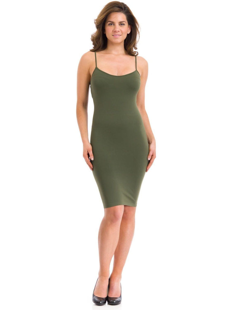 SugarLips Seamless Dress Cami S125TN Olive Green One Size