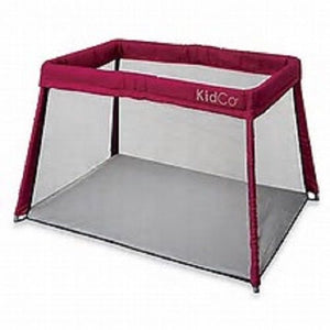 KidCo Travelpod Portable Bed Perfect for Traveling and Vacatoins Cranberry
