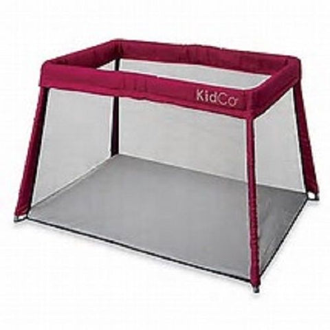 KidCo Travelpod Portable Bed Perfect for Traveling and Vacation Cranberry