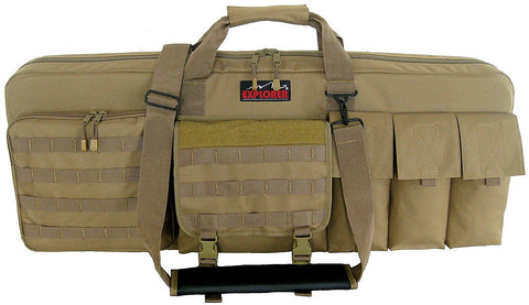 "Explorer Tactical 3 Rifles Weapon Case with Mate 46"" x 13.50-Inch Coyote"