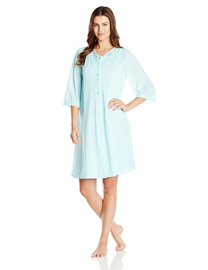 Shadowline Rose Embroidered Button Up Yoke Coat 77280 Seafoam Small