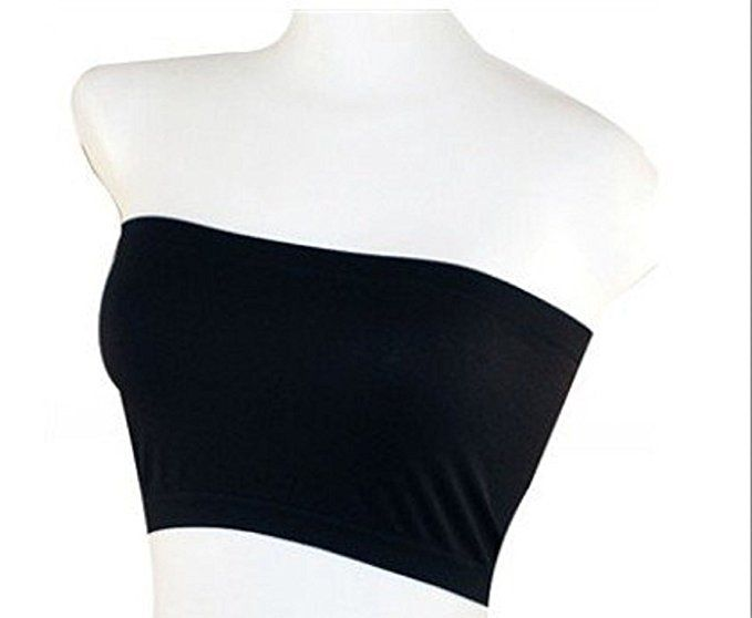 MB Trend Seamless Tube Bandeau Top SS1102 Black One Size