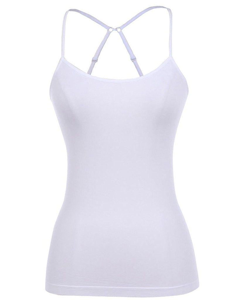 MB Trend Seamless Long Cami with Cross Back S1718 White One Size