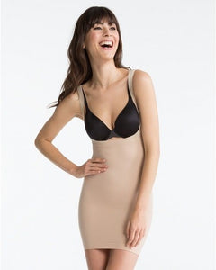 SPANX Shape My Day Firm Control Open-Bust Full Slip SS0215 Natural Small
