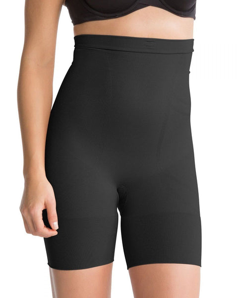 SPANX Slim Cognito High Waisted Mid Thigh Shaper 2433 Black Medium