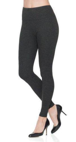 Spanx Heather Ponte Legging 2438 Charcoal Heather Meduim