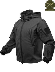 Rothco Special Ops Soft Shell Jacket, Black size 2XLarge