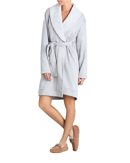 UGG Women's Duffield Robe Silver Large