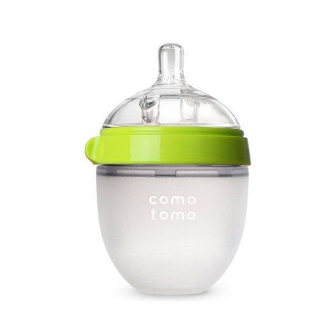Comotomo Slow Flow BPA Free Baby Bottle Green 5 Ounce 1-Count