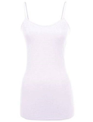 MB Trend Long Cami Seamless - White s1106 junior one side