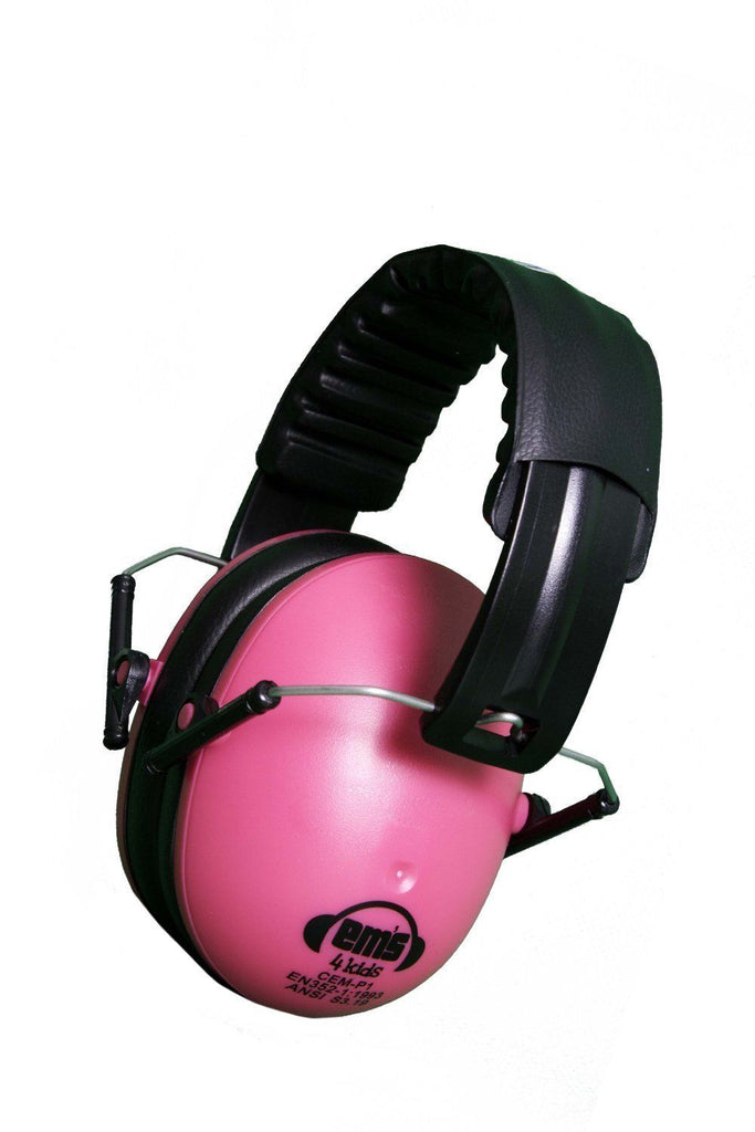 Em's 4 Kids Hearing Protection Earmuffs Noise Protection (Pink)