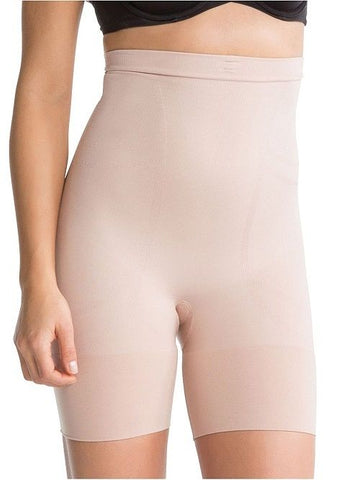 SPANX Slim Cognito High Waisted Mid Thigh Shaper 2433 Nude Large