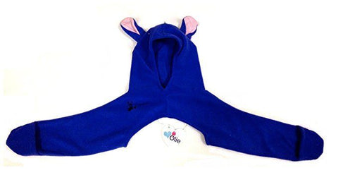 The Olie Minkey Baby Winter Garment (New Born-6Months, Blue w/ears)