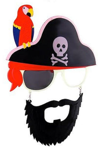 Cross Skull Parrot Pirate Beard Sunstaches