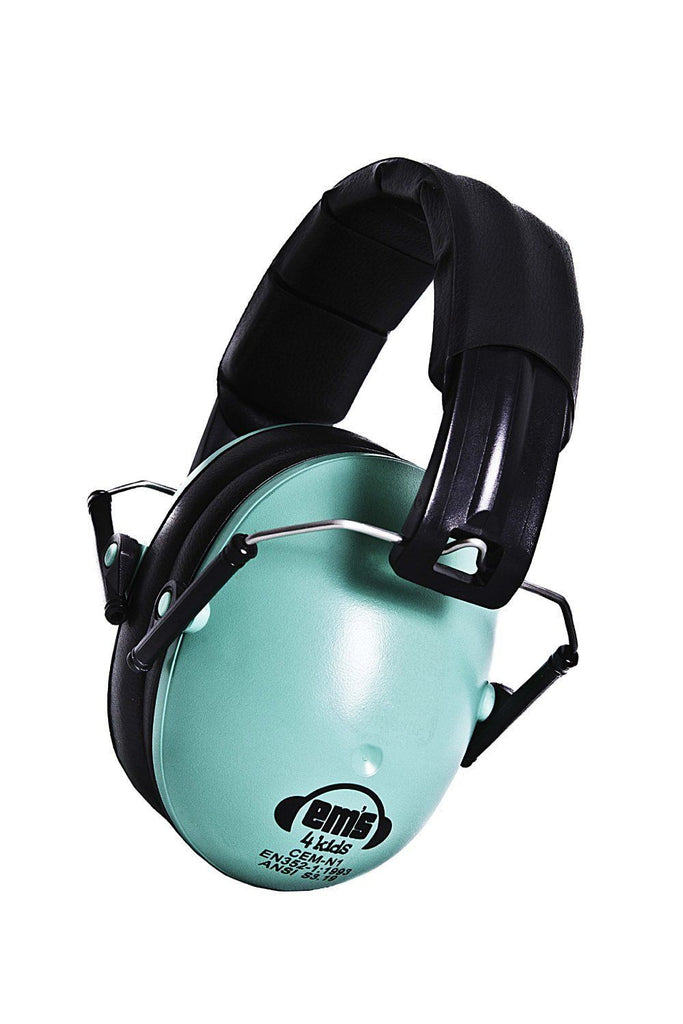 Em's 4 Kids Hearing Protection Earmuffs Noise Protection (Mint Green)
