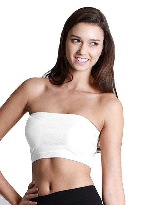 Nikibiki Bandeau Top Summer Must Have! NS1015 White One Size