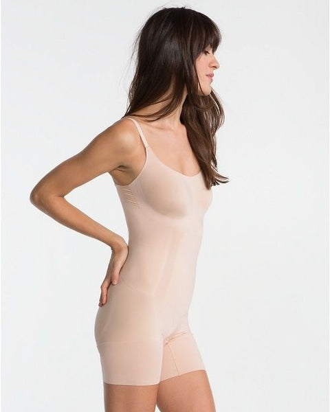 SPANX OnCore Sculptsuit Mid-Thigh Shapesuit SS1715 Soft Nude Large