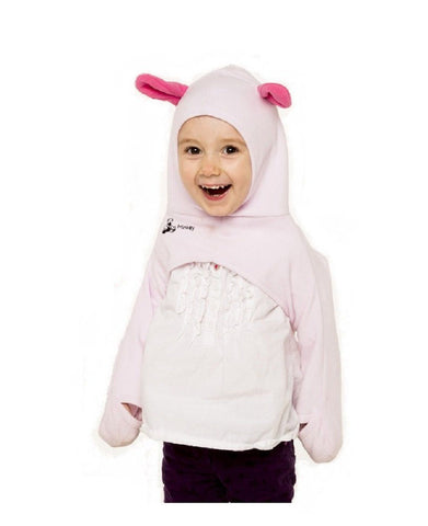 The Olie Minkey Baby Winter Garment (12-24Months, Pink w/ears)