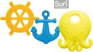 MayappleBaby Suri the Octopus and Friends Teether 3 Silicone Teething Toys Lemon