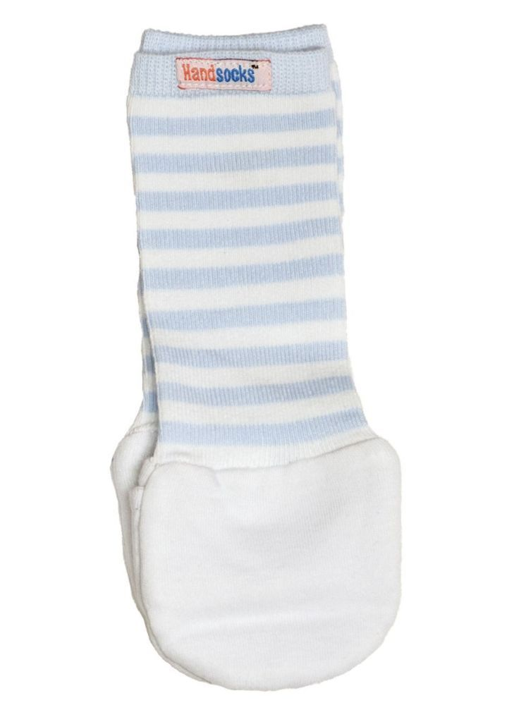 Handsocks Baby Warm No-Scratch Mittens by Handsocks Blue X-Small