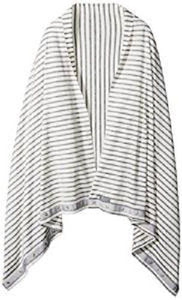 Nuroo Nursing Scarf Wear it Anywhere and Anyway! Gray Stripe One Size