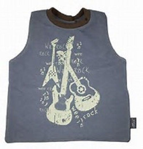 Wee Drool Bib - Waterproof Reversible T Bib - Wee Rock, Dark Gray