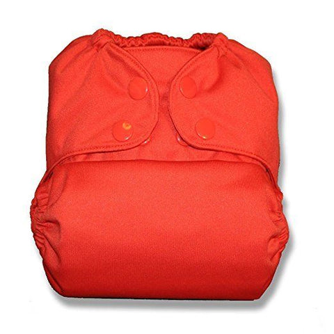 TushMate Cloth Diaper one side fits all 8-40 lbs snap Orange