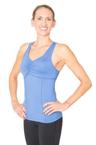 Cozy Orange Women's Gemini Yoga Tank Tranquil Blue Large